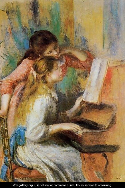 Girls at the Piano I - Pierre Auguste Renoir