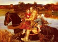A Dream of the Past - Sir Isumbras at the Ford - Sir John Everett Millais