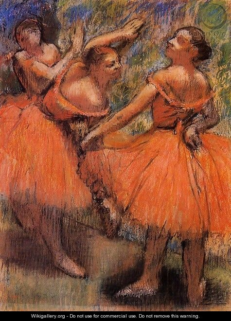 Red Ballet Skirts - Edgar Degas