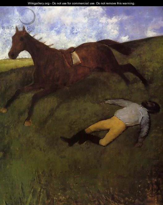 The Fallen Jockey - Edgar Degas