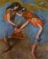 Two Dancers with Yellow Carsages - Edgar Degas