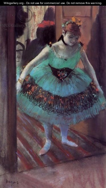 Dancer Leaving Her Dressing Room - Edgar Degas