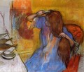 Woman Brushing Her Hair - Edgar Degas