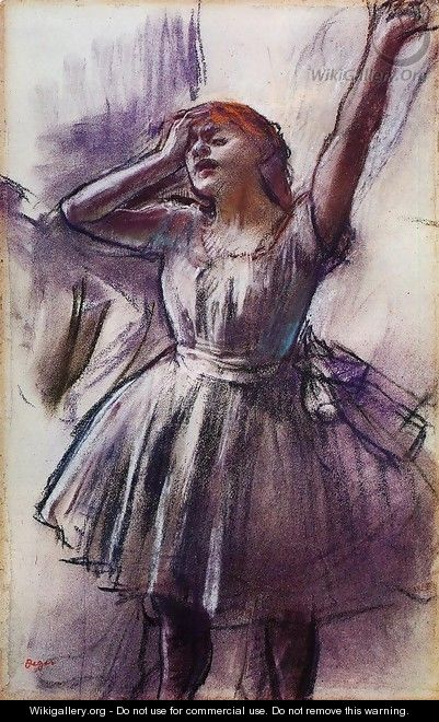 Dancer with Left Art Raised - Edgar Degas