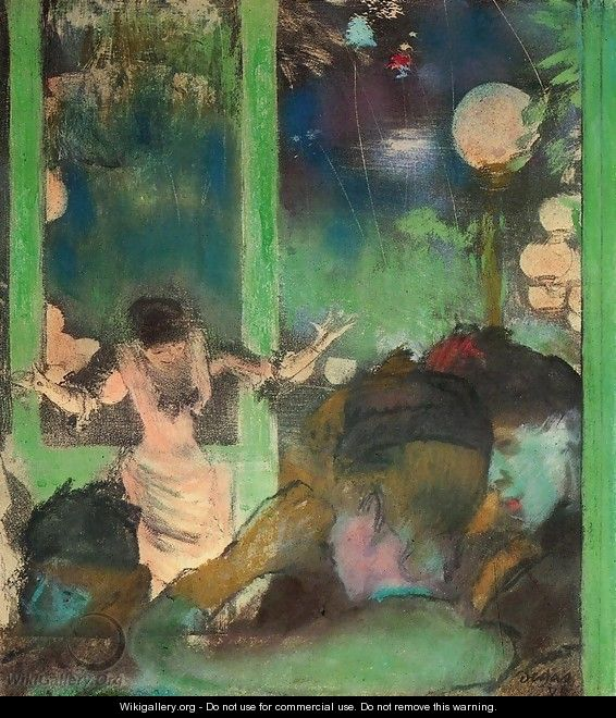 At the Cafe des Ambassadeurs I - Edgar Degas