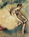 Dancer Putting on Her Slipper - Edgar Degas