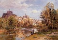 The Village of Puy en Valay - Edmond Marie Petitjean