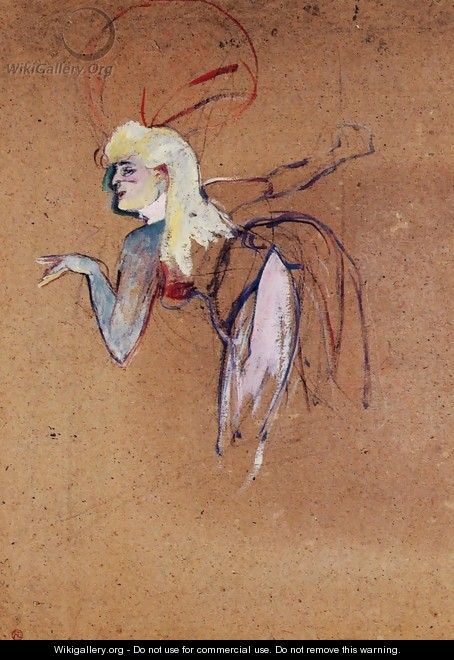 Extra in the Folies-Bergere Revue - Henri De Toulouse-Lautrec