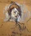Head of a Woman - Henri De Toulouse-Lautrec