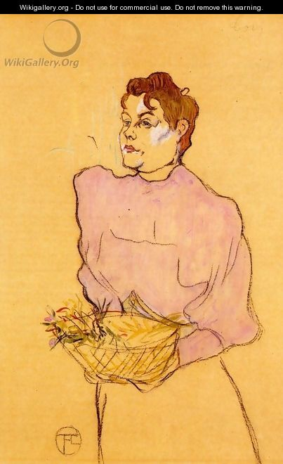 The Flower Seller - Henri De Toulouse-Lautrec