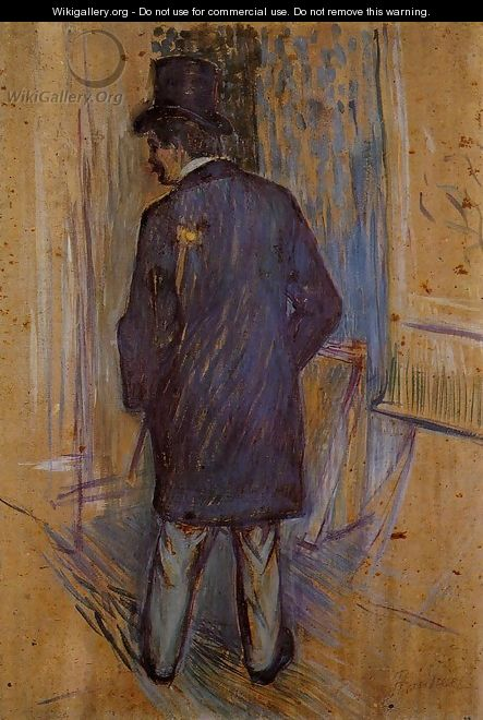 Monsieur Louis Pascal from the Rear - Henri De Toulouse-Lautrec