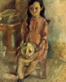 Little Girl with a Hat - Jules Pascin