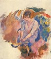 Young Woman Putting on Her Socks - Jules Pascin