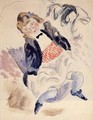 Seated Young Girl - Jules Pascin