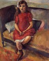 Young Girl in Red - Jules Pascin
