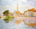 The Quay at Verre, Zeeland - Theo van Rysselberghe