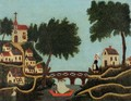 Landscape with Bridge - Henri Julien Rousseau