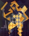 Harlequin with Violin - Juan Gris