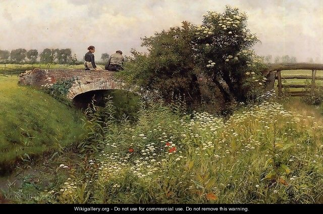 A Meeting on the Bridge - Emil Claus