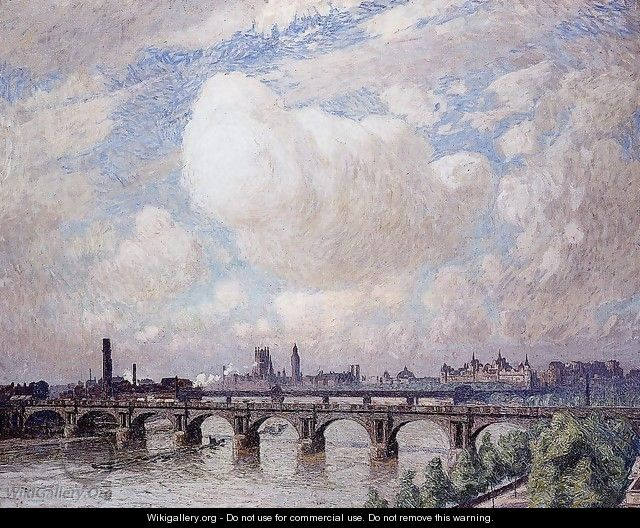 Waterloo Bridge in the Sun - Emil Claus