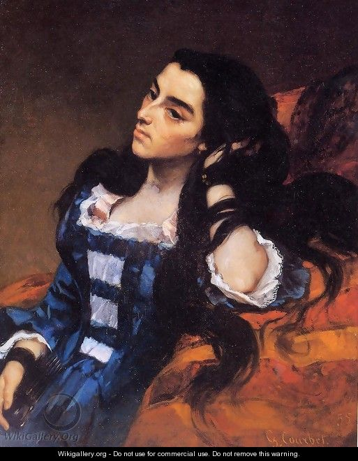Portrait of a Spanish Lady - Gustave Courbet