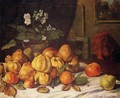 Still Life: Apples, Pears and Primroses on a Table - Gustave Courbet