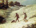 Poachers in the Snow - Gustave Courbet