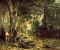 The Shelter of the Roe Deer at the Stream of Plaisir-Fontaine, Doubs - Gustave Courbet