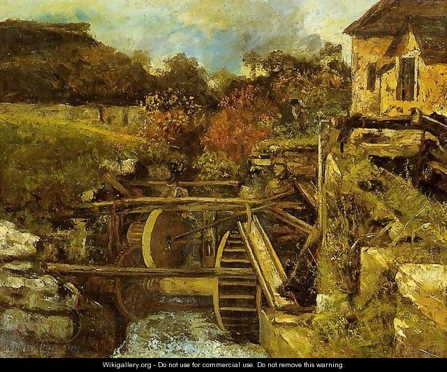 The Ornans Paper Mill - Gustave Courbet