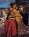 Three English Girls at a Window - Gustave Courbet
