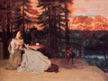 The Lady of Frankfurt - Gustave Courbet