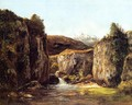 Landscape: The Source among the Rocks of the Doubs - Gustave Courbet