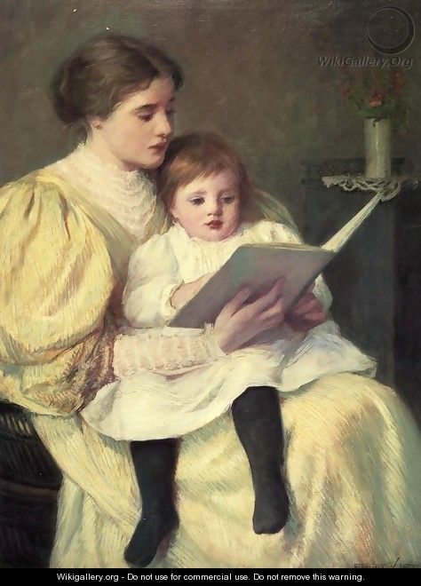 Mother and Child Reading - Frederick Warren Freer