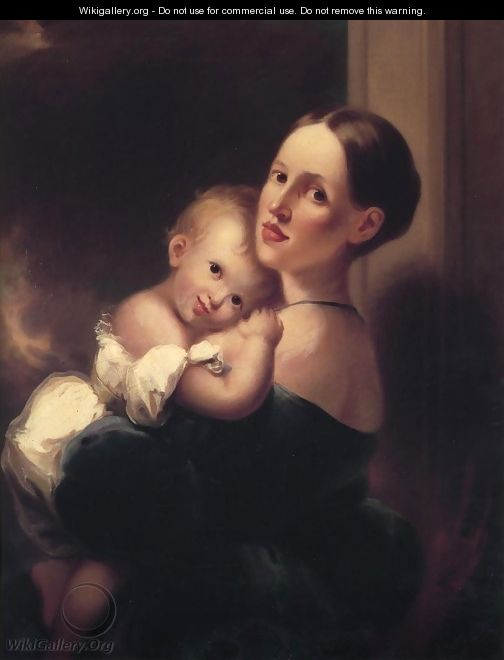 Mrs. James Miles Bush and Her Daughter, Nannie - Joseph H. Bush