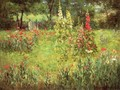Hollyhocks and Poppies - The Hermitage - John Ottis Adams