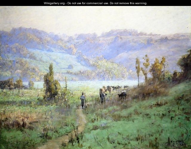 In the Whitewater Valley near Metamora - Theodore Clement Steele