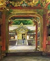 In the Third Gate, Looking Toward the Fourth of the Temple, Iyemitsu, Nikko, Aug., 1886 - John La Farge