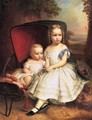 Portrait of Two Children, Helen and Alice Capron - William Ruthven Wheeler