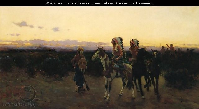 The White Mans Trail - Henry Farny