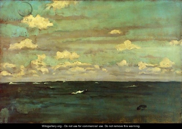Violet and Siilver: A Deep Sea - James Abbott McNeill Whistler