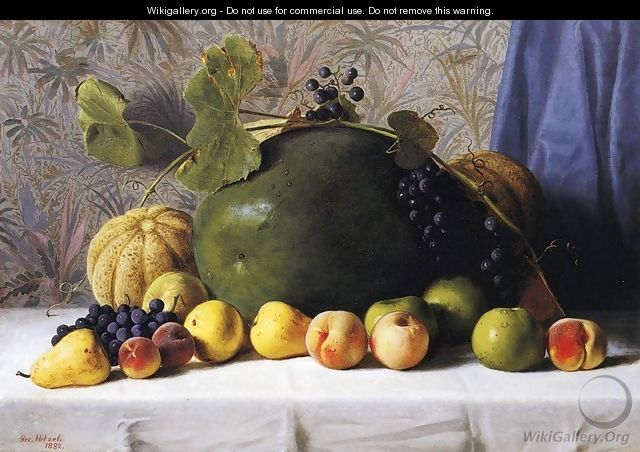 Watermelon, Cantaloupes, Grapes and Apples - George Hetzel