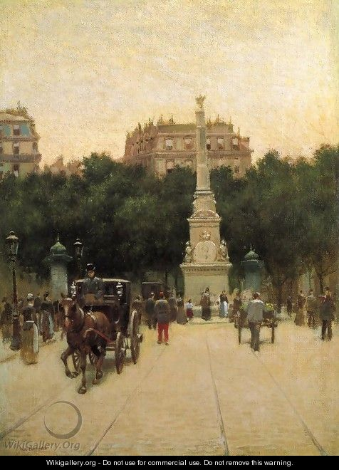 A Boulevard in Paris - Paul Cornoyer
