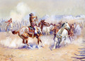 Navajo Wild Horse Hunters - Charles Marion Russell