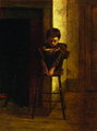 Little Boy on a Stool - Eastman Johnson