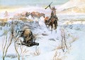 Christmas Dinner for the Men on the Trail - Charles Marion Russell
