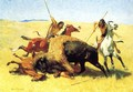 The Buffalo Hunt - Frederic Remington