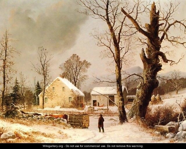 Winter Scene in New England - George Henry Durrie