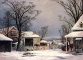 Farmyard, Winter - George Henry Durrie