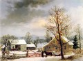 New England Winter Scene - George Henry Durrie