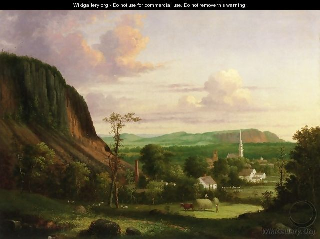 View of Westville - George Henry Durrie